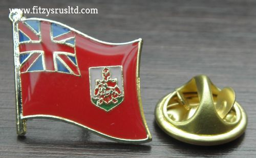 Bermuda Country Flag Lapel Hat Cap Tie Pin Badge / Brooch - Somers Isles - New